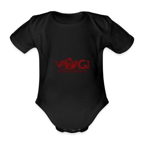 Varjagi Punainen - Vauvan lyhythihainen luomu-body
