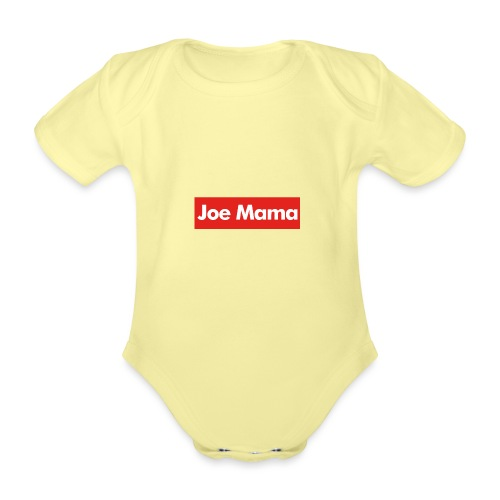 Don't Ask Who Joe Is / Joe Mama Meme - Organic Short-sleeved Baby Bodysuit