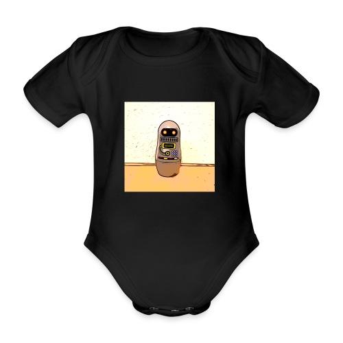 Lustiges Scifi Robot T-Shirt retro Geschenkidee - Baby Bio-Kurzarm-Body