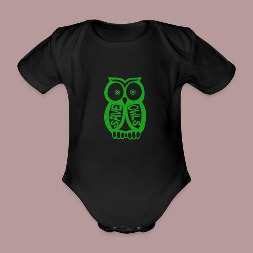 Save owls - Body Bébé bio manches courtes