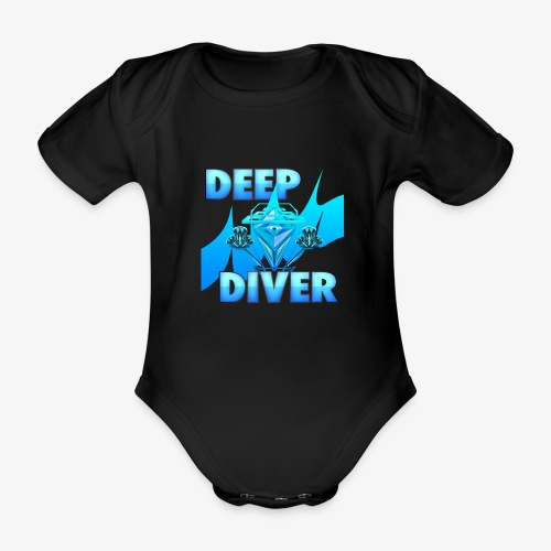 Deep Diver, Ocean Diamond. - Organic Short-sleeved Baby Bodysuit