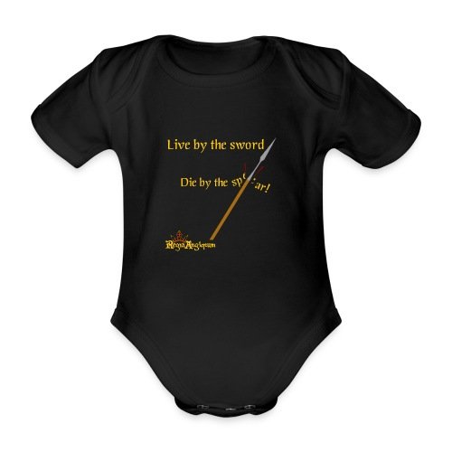 Live by the sword - Organic Short-sleeved Baby Bodysuit