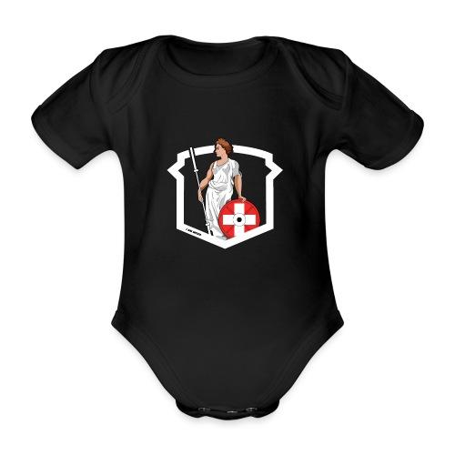 Helvetic Weightlifting Girl - Baby Bio-Kurzarm-Body