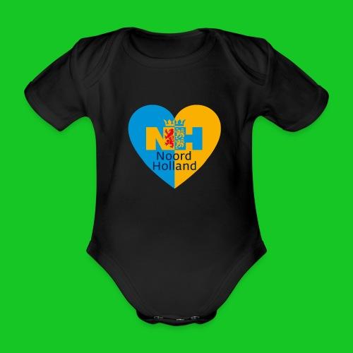 Noord Holland hart - Baby bio-rompertje met korte mouwen