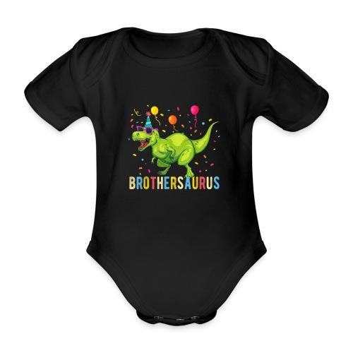 Brothersaurus - Baby bio-rompertje met korte mouwen