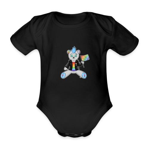 LGBT Bear Love - Kortærmet babybody, økologisk bomuld