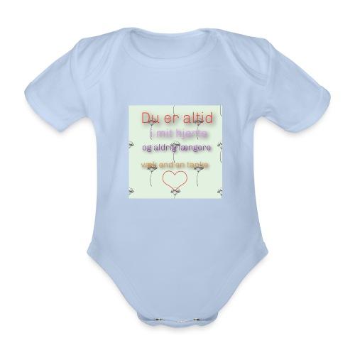 En tanke - Kortærmet babybody, økologisk bomuld