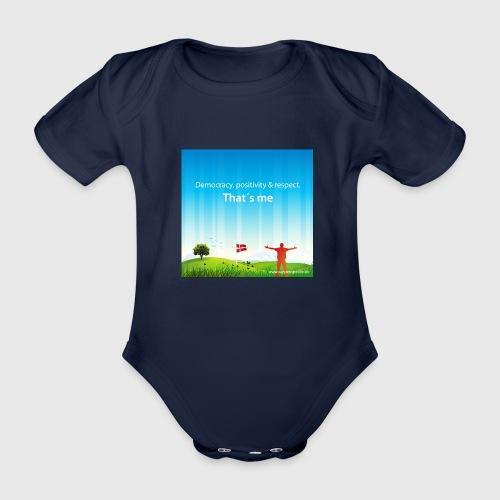 Rolling hills tshirt - Kortærmet babybody, økologisk bomuld