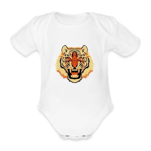 Tiger - Baby bio-rompertje met korte mouwen