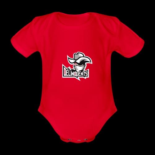 Delinquents Sort Design - Kortærmet babybody, økologisk bomuld