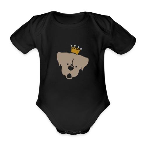 Prinz Poldi braun - Baby Bio-Kurzarm-Body