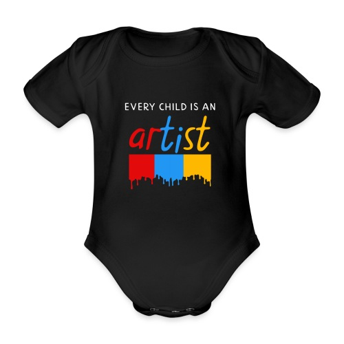 Every child is an artist - Baby bio-rompertje met korte mouwen