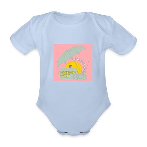 Hisingens playa pink - Ekologisk kortärmad babybody