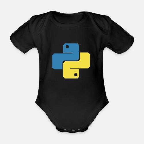 Python Pixelart - Organic Short-sleeved Baby Bodysuit