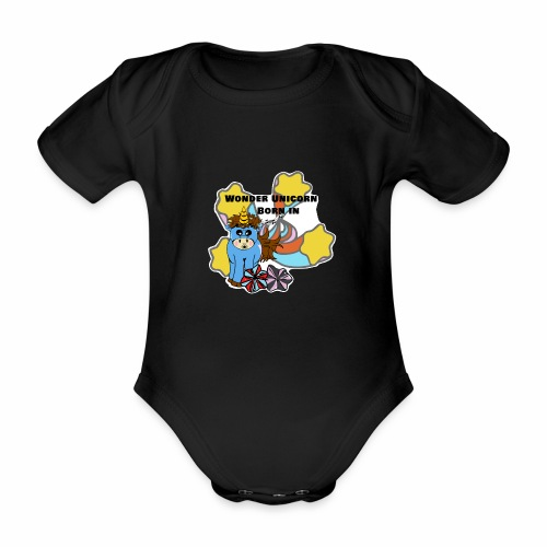 Une merveilleuse licorne est née (pour garcon) - Body Bébé bio manches courtes