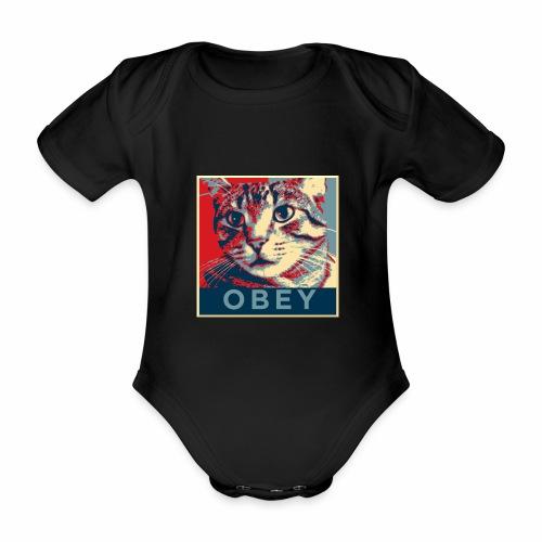 Obey the Cat! - Baby Bio-Kurzarm-Body