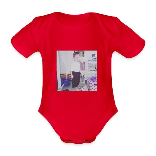IMG 0943 - Organic Short-sleeved Baby Bodysuit
