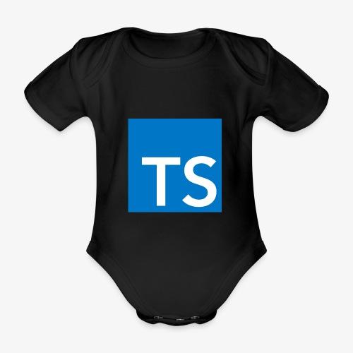 TypeScript Logo - Organic Short-sleeved Baby Bodysuit