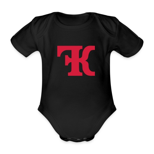 fk logo - Organic Short-sleeved Baby Bodysuit