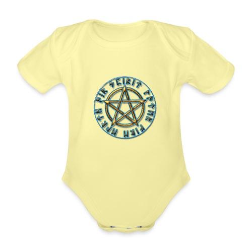 Runen Pentagramm Elemente Schutz Amulett Magie - Baby Bio-Kurzarm-Body
