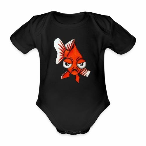 Boze vis - Baby bio-rompertje met korte mouwen