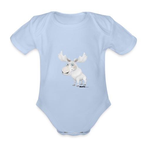 Łoś albinos - Ekologiczne body niemowlęce z krótkim rękawem