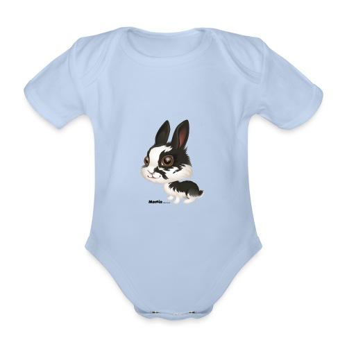 Królik - Ekologiczne body niemowlęce z krótkim rękawem