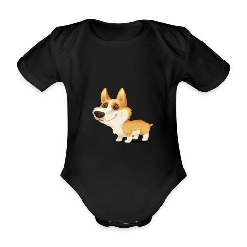 Corgi - Baby bio-rompertje met korte mouwen