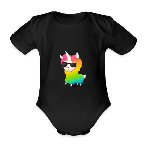Regenbogenanimation - Baby Bio-Kurzarm-Body