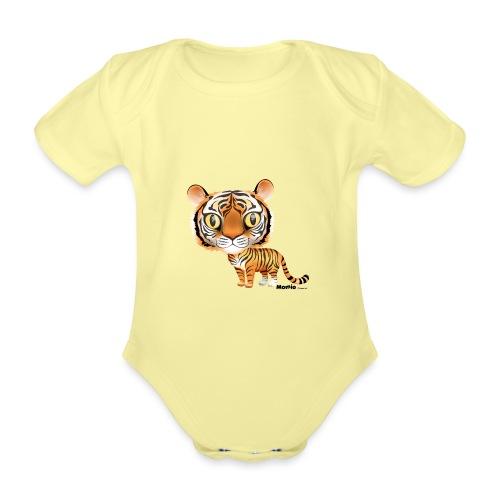 Tijger - Baby bio-rompertje met korte mouwen