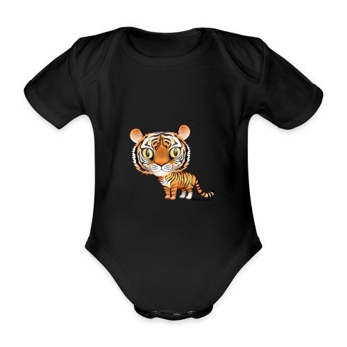 Tiger - Økologisk kortermet baby-body