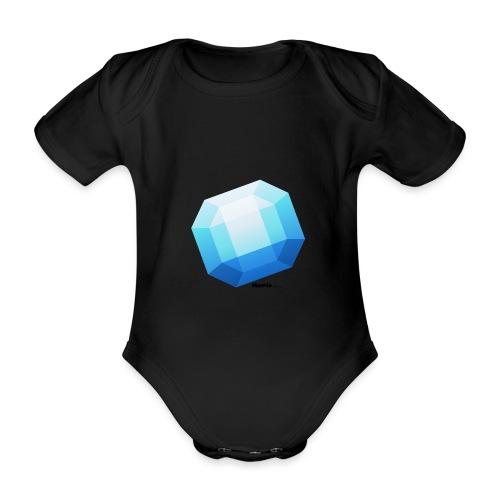 Saffier - Baby bio-rompertje met korte mouwen