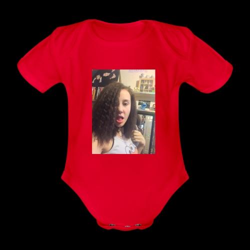 freya ft one d - Organic Short-sleeved Baby Bodysuit