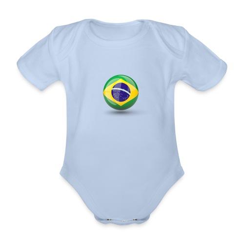 Símbolo da Bandeira do Brasil - Organic Short-sleeved Baby Bodysuit