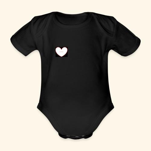 live, life, love - Baby bio-rompertje met korte mouwen
