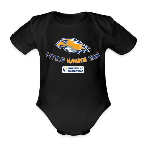 little hawks fan chest print - Organic Short-sleeved Baby Bodysuit