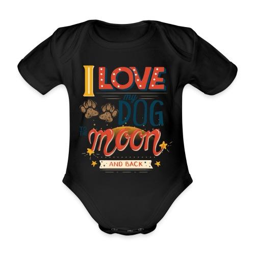 Moon Dog Light - Ekologisk kortärmad babybody