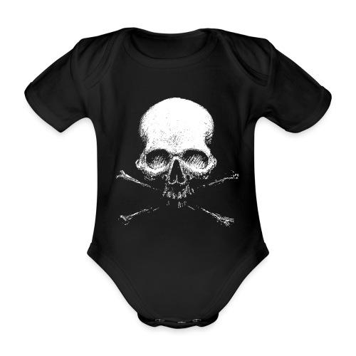 Old Skull - Body ecologico per neonato a manica corta