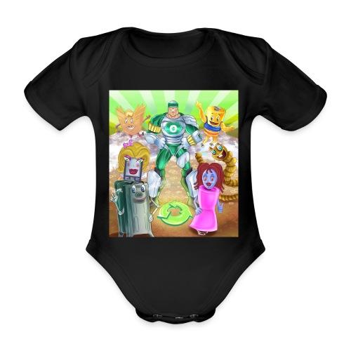 Captain Reece Icle - Organic Short-sleeved Baby Bodysuit