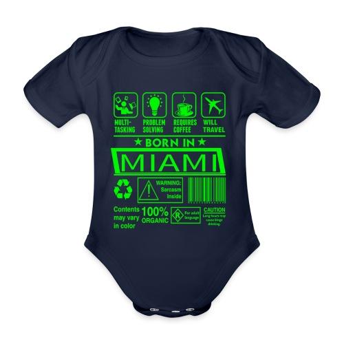 Born in Miami Florida - Body Bébé bio manches courtes