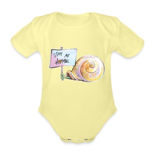 Stay at home - Baby Bio-Kurzarm-Body