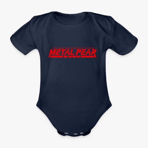 Metal Pear Solid: Tactical Greengrocer Action - Organic Short-sleeved Baby Bodysuit
