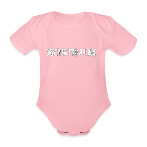 bostin uk white - Organic Short-sleeved Baby Bodysuit