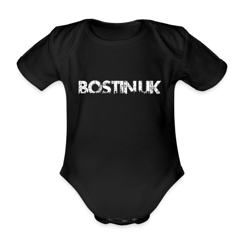 bostin uk white - Organic Short-sleeved Baby Bodysuit