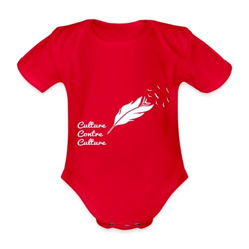 Culture contre Culture (version light, par éoline) - Body Bébé bio manches courtes