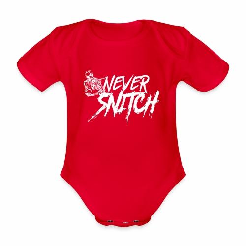 never snitch - Baby Bio-Kurzarm-Body