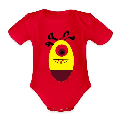 Gult æg - Kortærmet babybody, økologisk bomuld