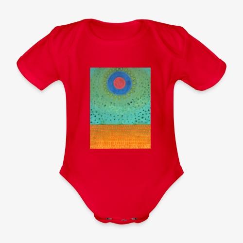 Noc Nad Pustynią - Ekologiczne body niemowlęce z krótkim rękawem