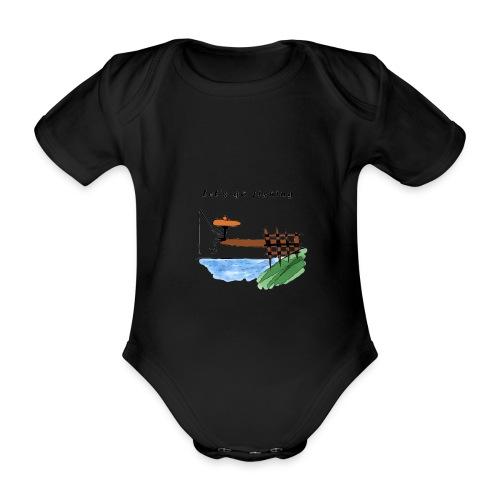 Let's go fishing - Organic Short-sleeved Baby Bodysuit