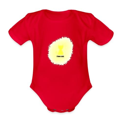 Sand cat - Organic Short-sleeved Baby Bodysuit